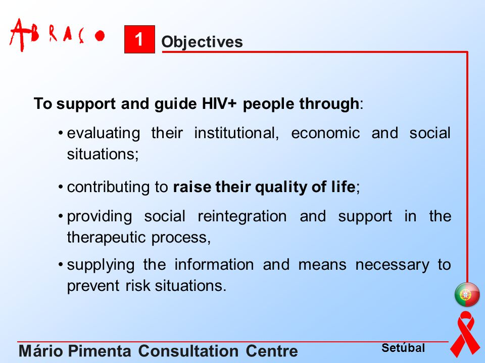 1 Mário Pimenta Consultation Centre Objectives