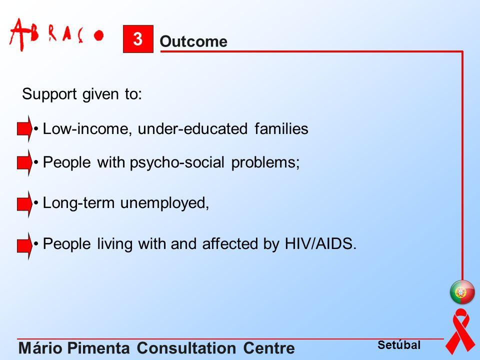 3 Mário Pimenta Consultation Centre Outcome Support given to: