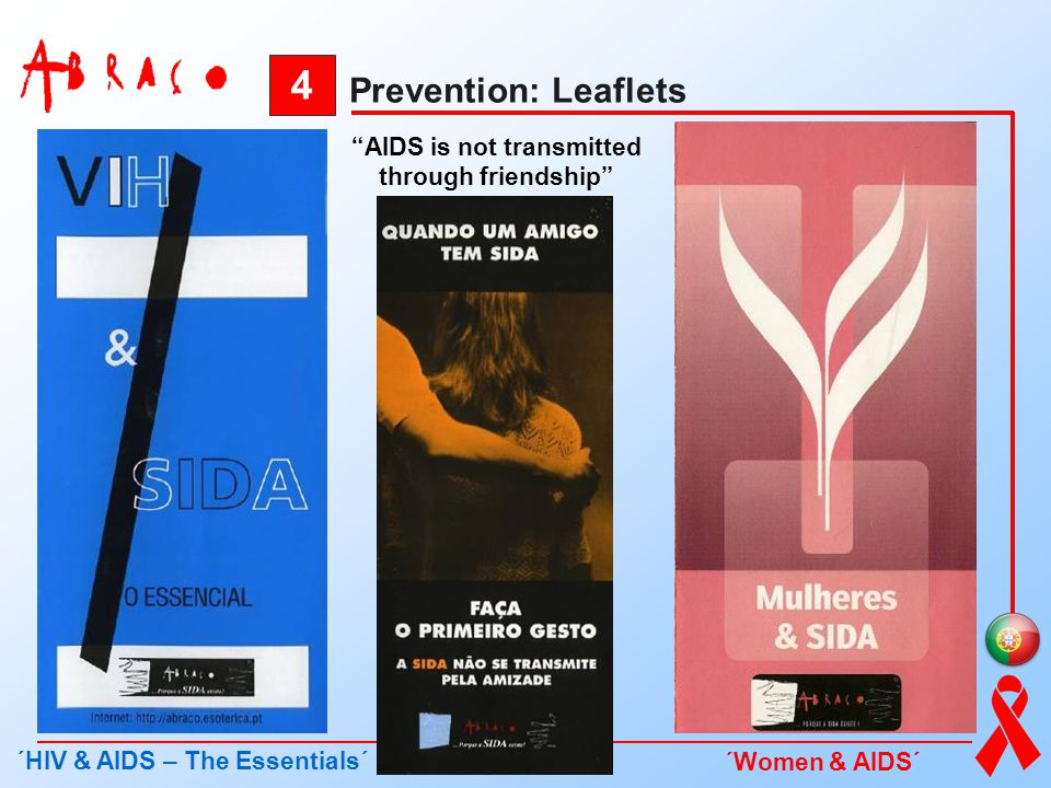AIDS is not transmitted through friendship