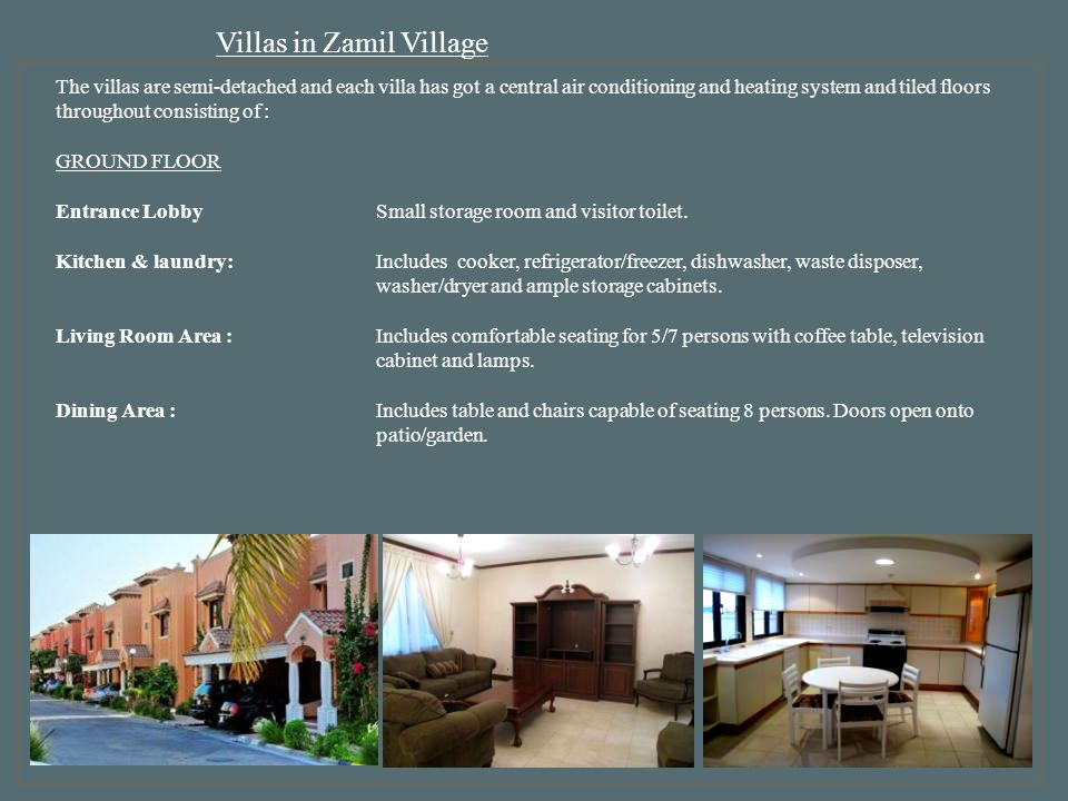 Villas in Zamil Village