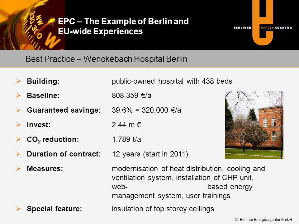 Best Practice – Wenckebach Hospital Berlin