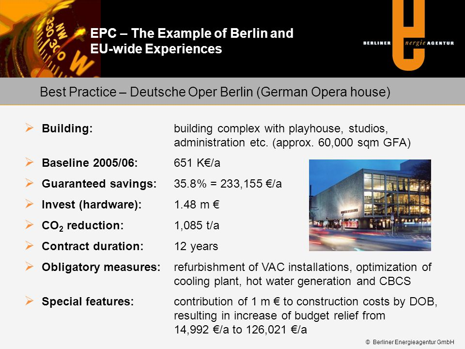 Best Practice – Deutsche Oper Berlin (German Opera house)