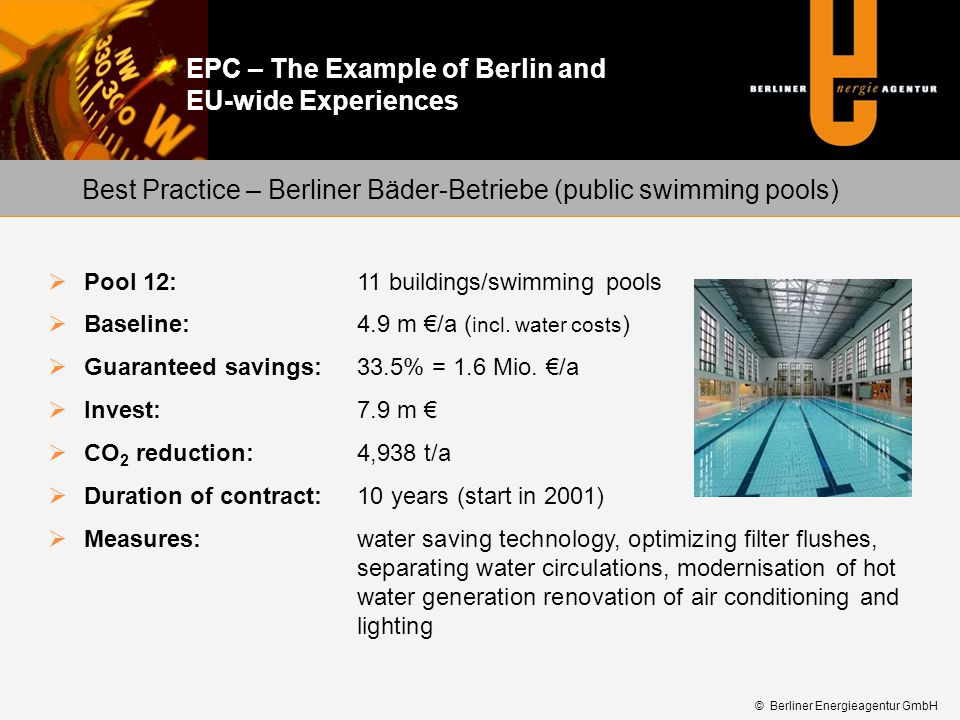 Best Practice – Berliner Bäder-Betriebe (public swimming pools)