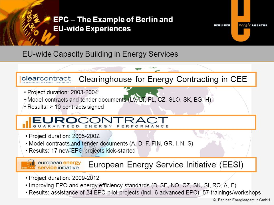 Clearcontract – Clearinghouse for Energy Contracting in CEE