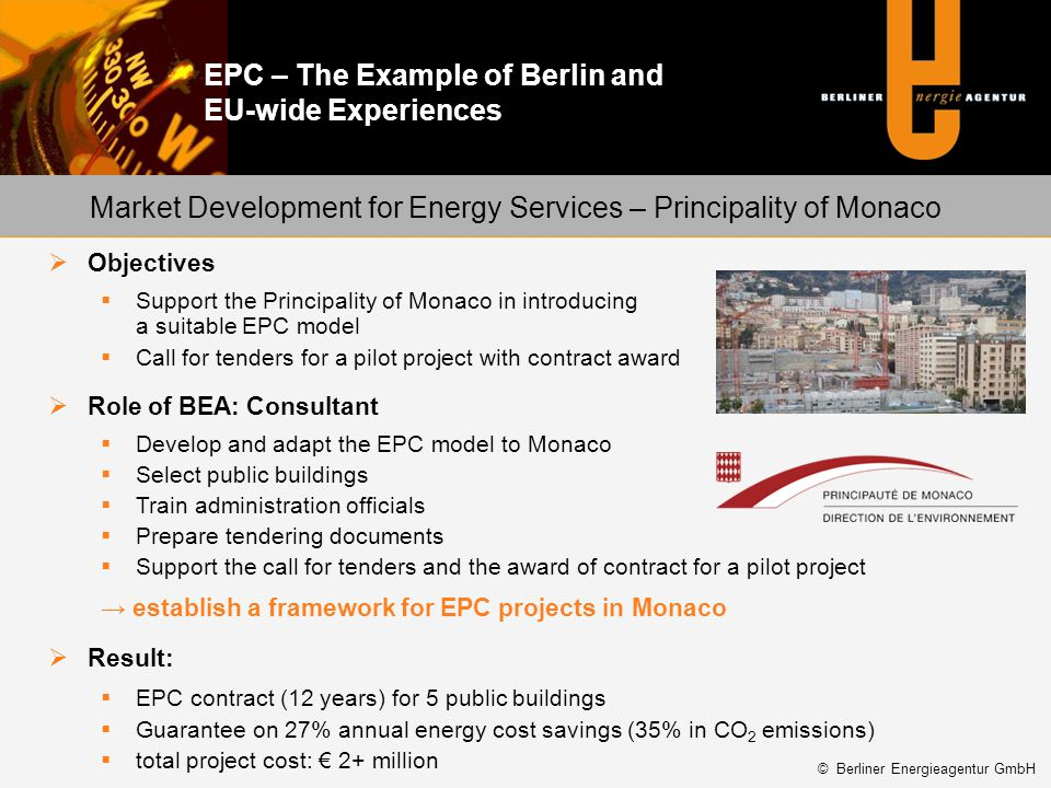 Market Development for Energy Services – Principality of Monaco