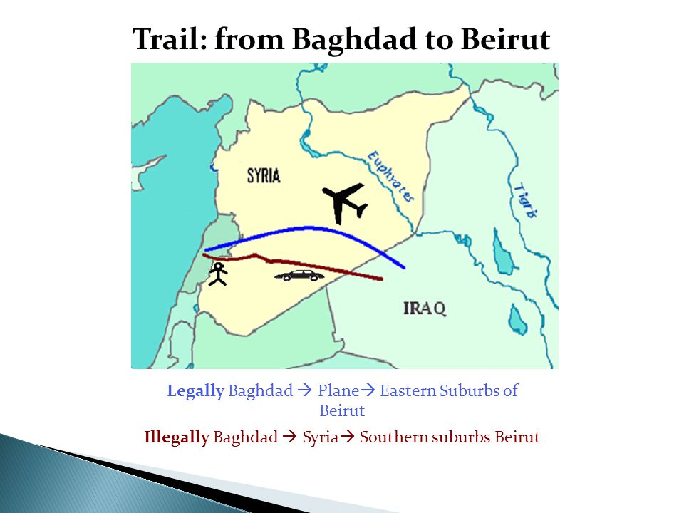 Trail: from Baghdad to Beirut