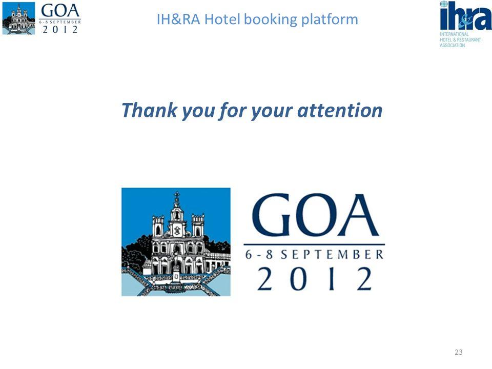 IH&RA Hotel booking platform