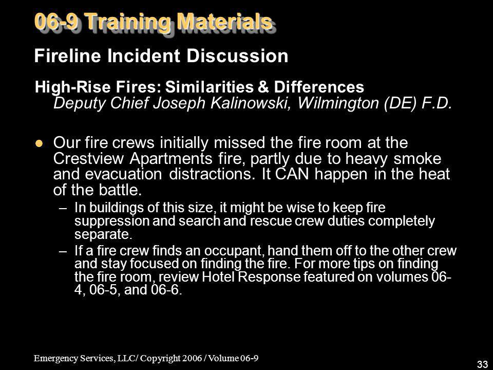 06-9 Training Materials Fireline Incident Discussion