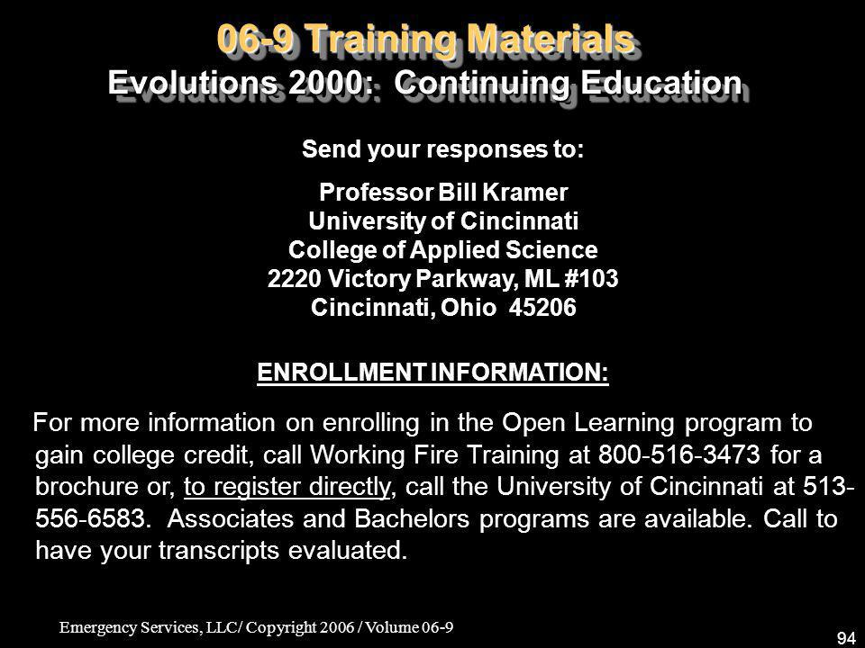06-9 Training Materials Evolutions 2000: Continuing Education