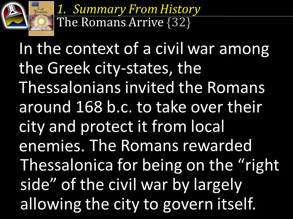 Summary From History The Romans Arrive {32}