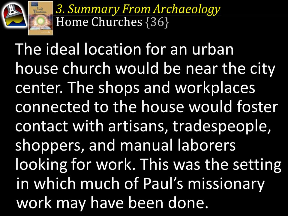 3. Summary From Archaeology