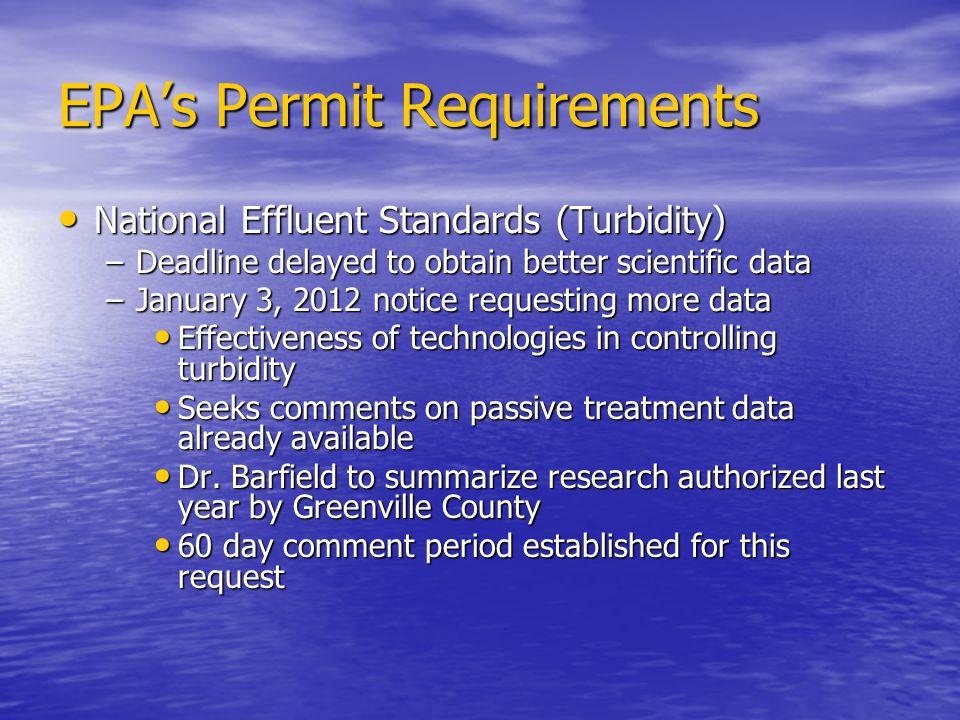 EPA's Permit Requirements