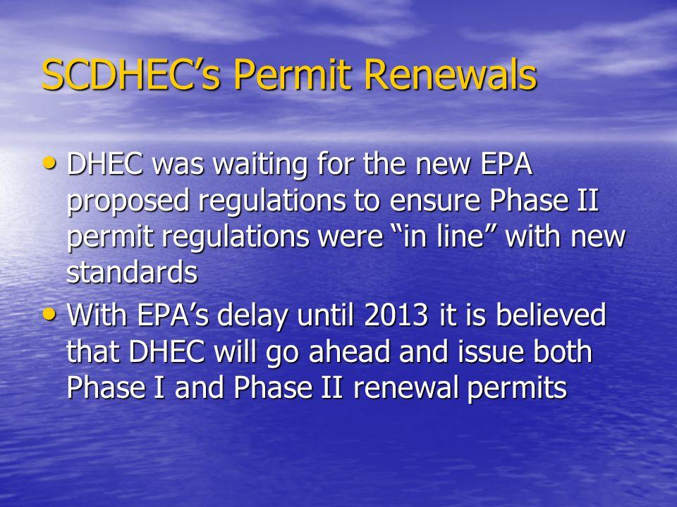 SCDHEC's Permit Renewals