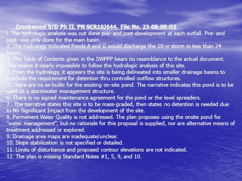 Creekwood S/D Ph II, PN SCR10J644, File No. 23-08-08-O5