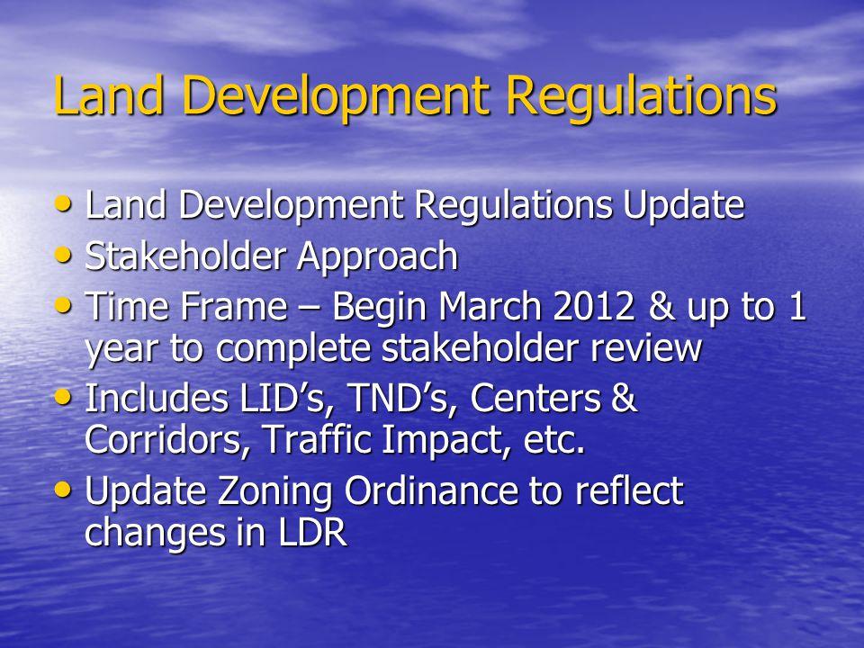 Land Development Regulations