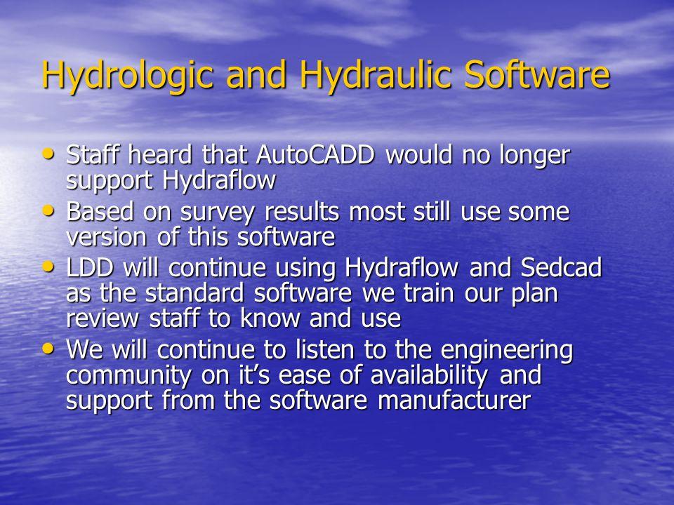 Hydrologic and Hydraulic Software