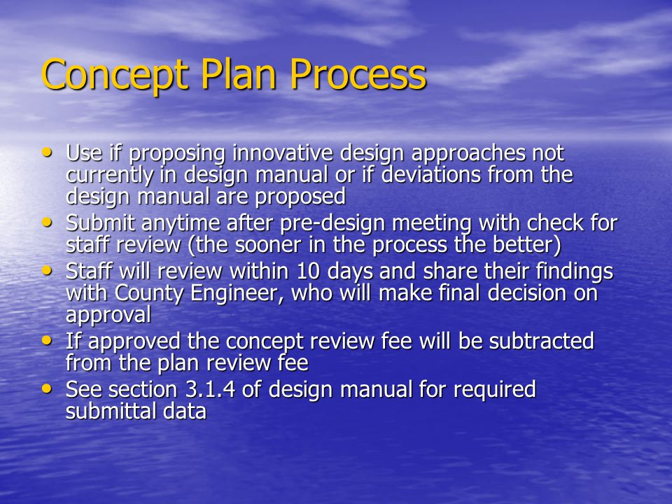 Concept Plan Process