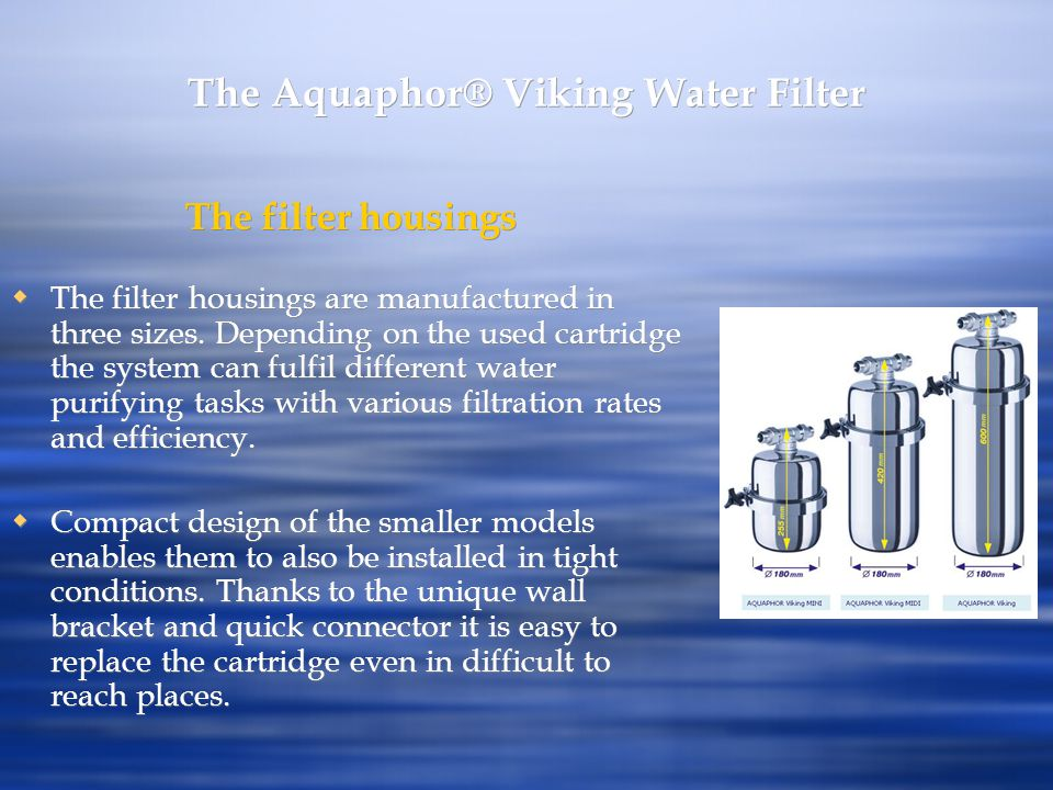 The Aquaphor® Viking Water Filter