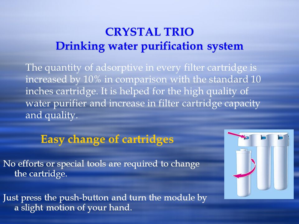 CRYSTAL TRIO Drinking water purification system