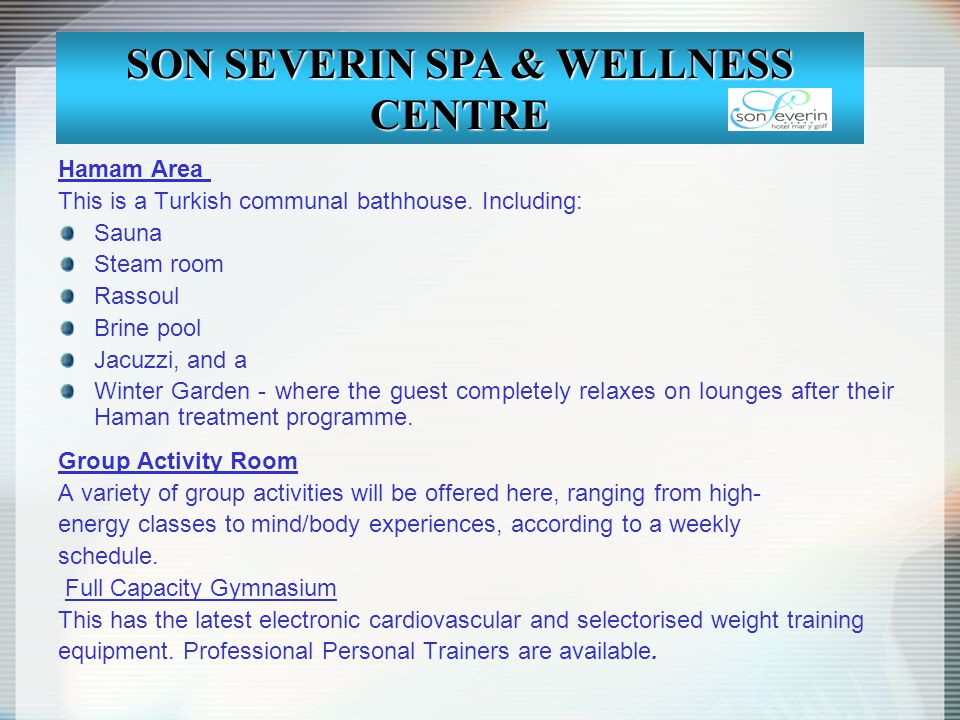 SON SEVERIN SPA & WELLNESS CENTRE