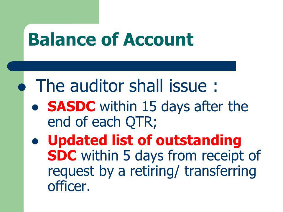 The auditor shall issue :