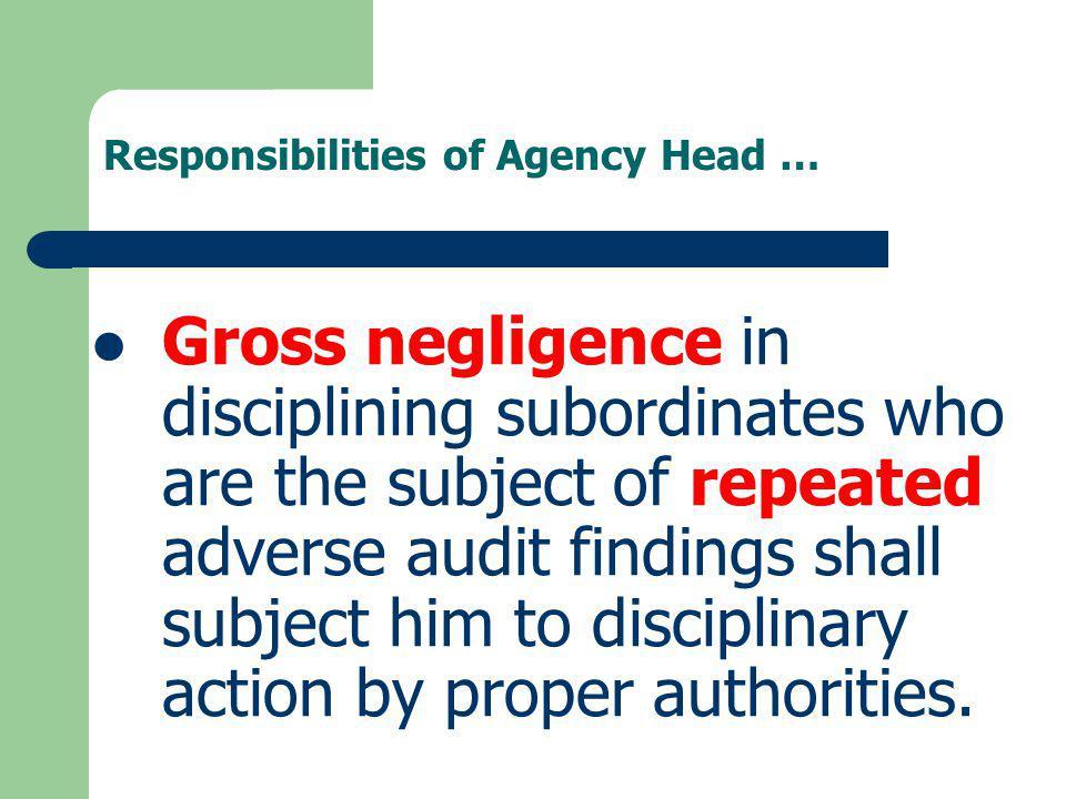 Responsibilities of Agency Head …