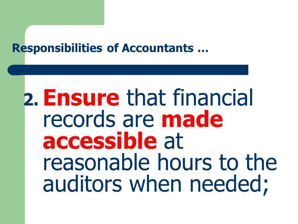 Responsibilities of Accountants …