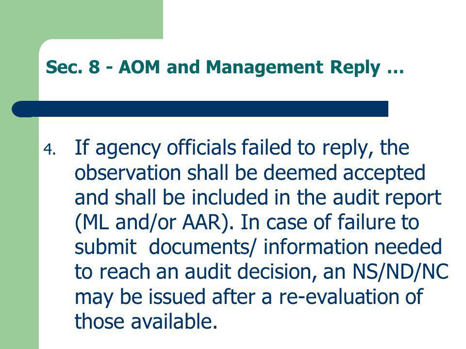 Sec. 8 - AOM and Management Reply …