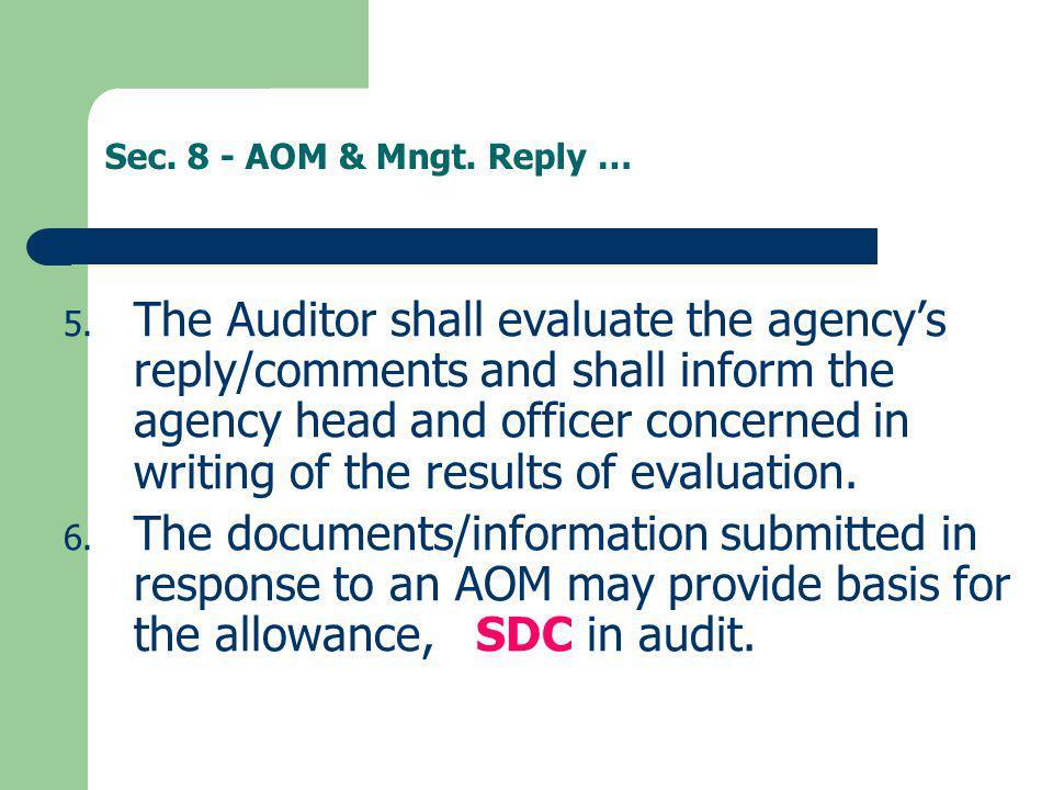 Sec. 8 - AOM & Mngt. Reply …