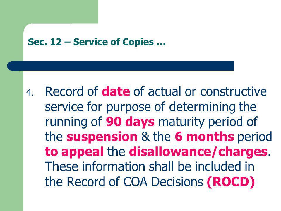 Sec. 12 – Service of Copies …