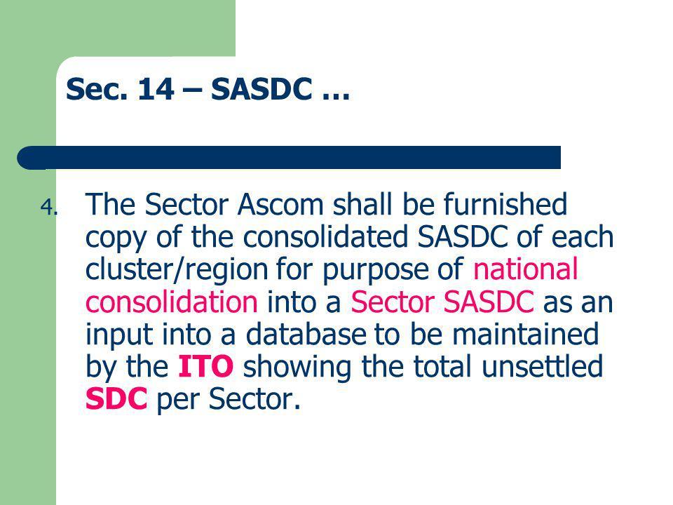 Sec. 14 – SASDC …