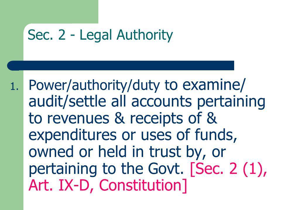 Sec. 2 - Legal Authority