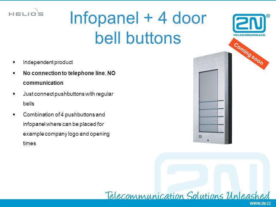Infopanel + 4 door bell buttons