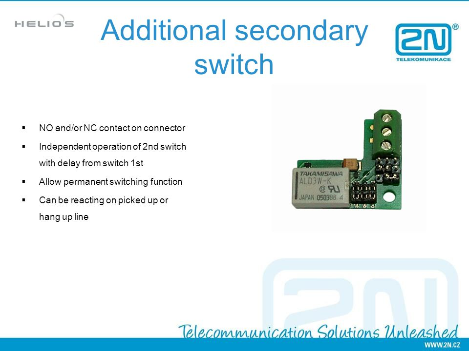 Additional secondary switch