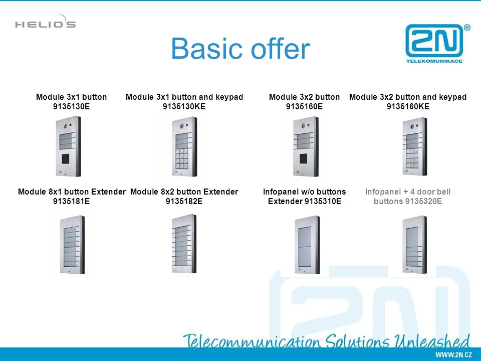 Basic offer Module 3x1 button 9135130E Module 3x1 button and keypad