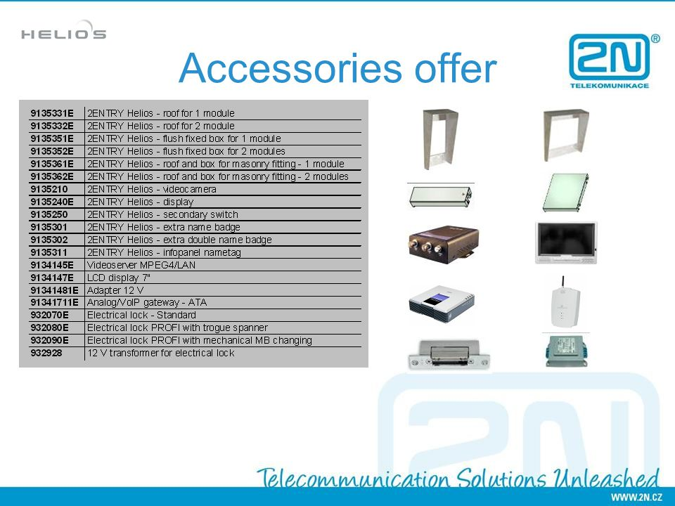 Accessories offer