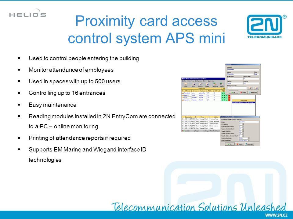 Proximity card access control system APS mini