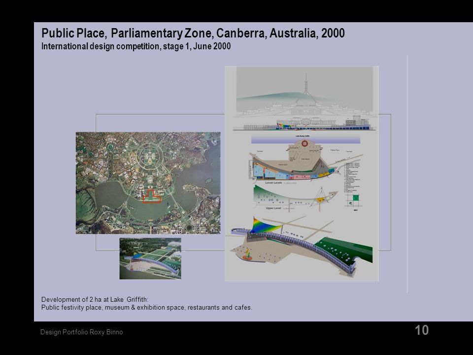 Public Place, Parliamentary Zone, Canberra, Australia, 2000 International design competition, stage 1, June 2000