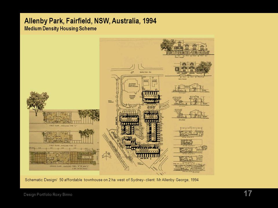 Allenby Park, Fairfield, NSW, Australia, 1994 Medium Density Housing Scheme