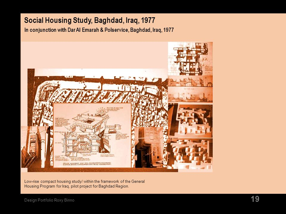 Social Housing Study, Baghdad, Iraq, 1977