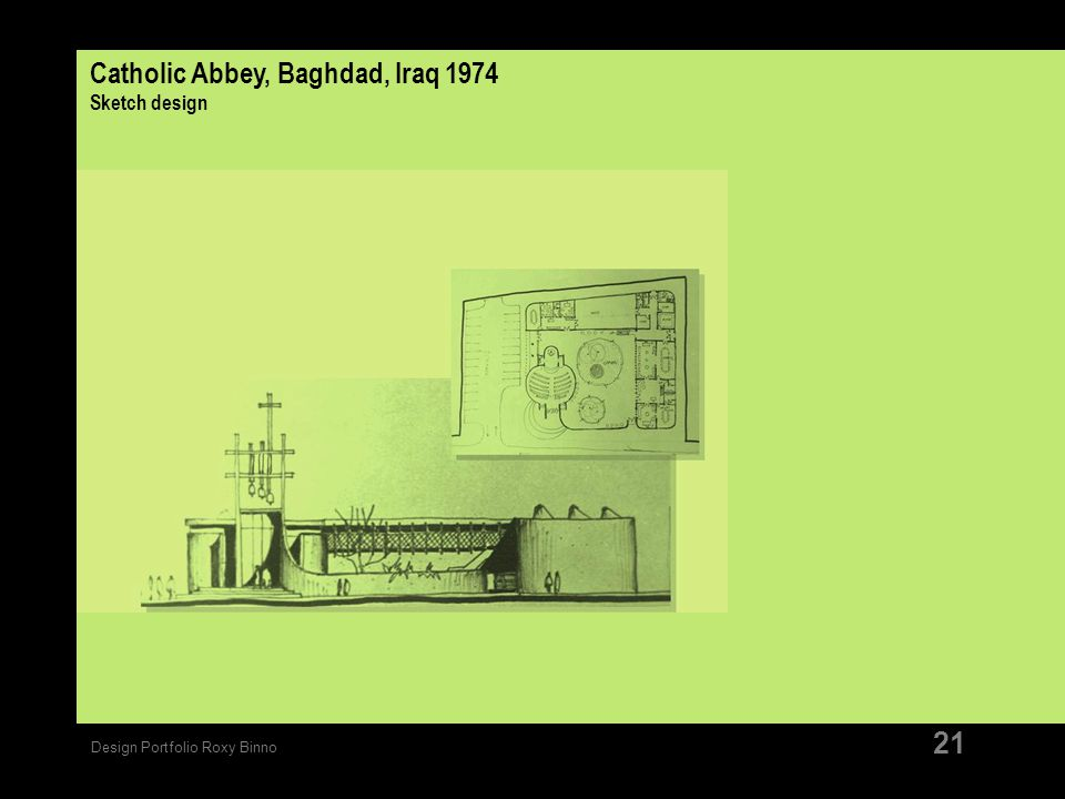 Catholic Abbey, Baghdad, Iraq 1974 Sketch design