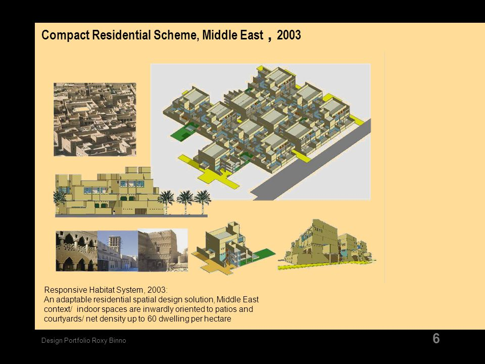 Compact Residential Scheme, Middle East , 2003