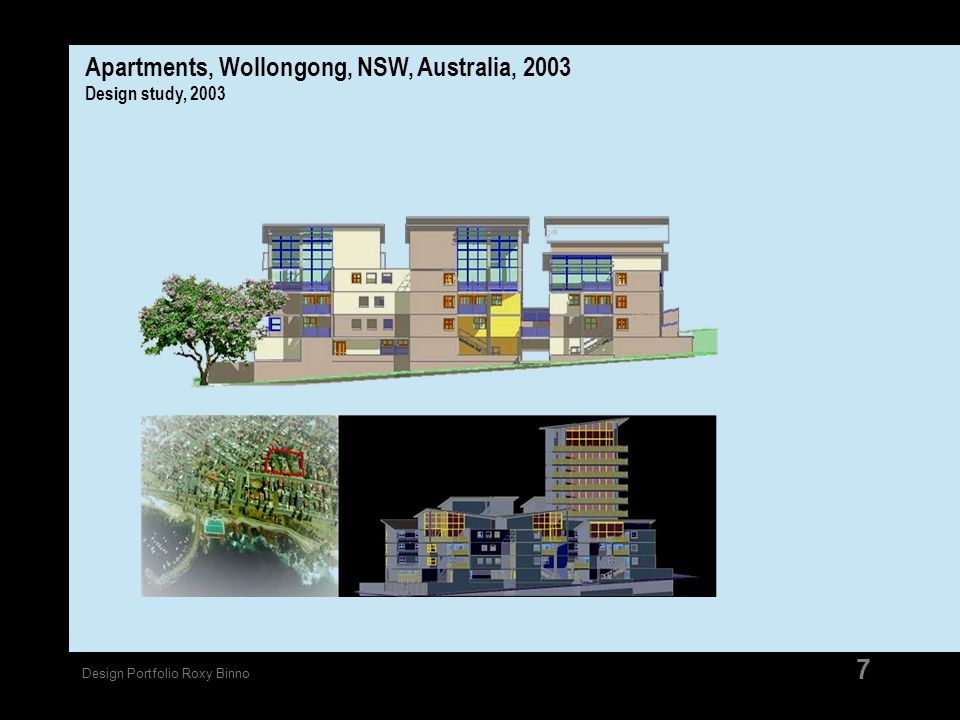 Apartments, Wollongong, NSW, Australia, 2003 Design study, 2003