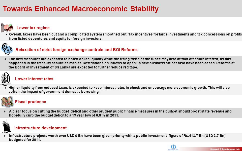 Towards Enhanced Macroeconomic Stability