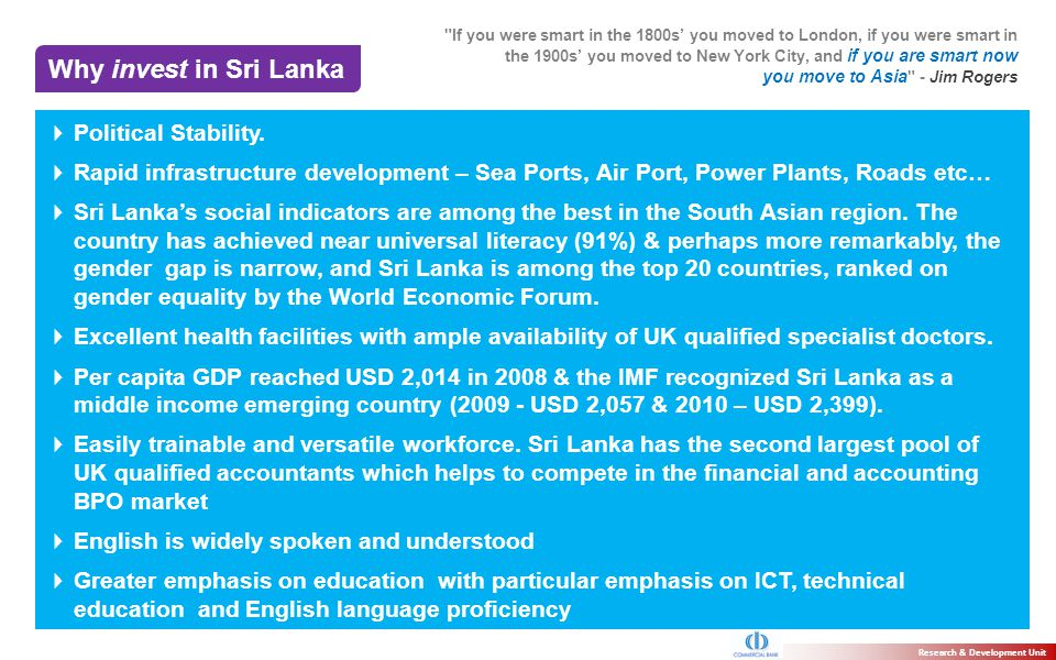 Why invest in Sri Lanka Political Stability.