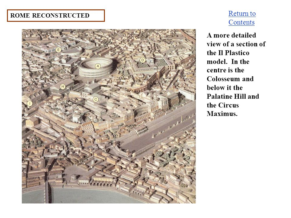 Return to Contents ROME RECONSTRUCTED.