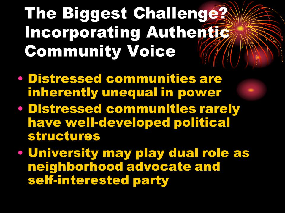 The Biggest Challenge Incorporating Authentic Community Voice