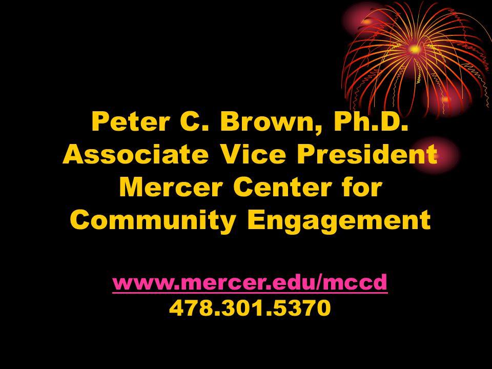 Associate Vice President Mercer Center for Community Engagement
