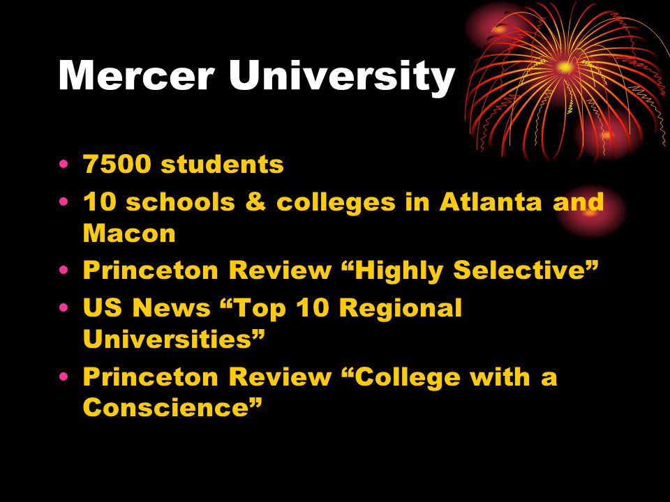 Mercer University 7500 students