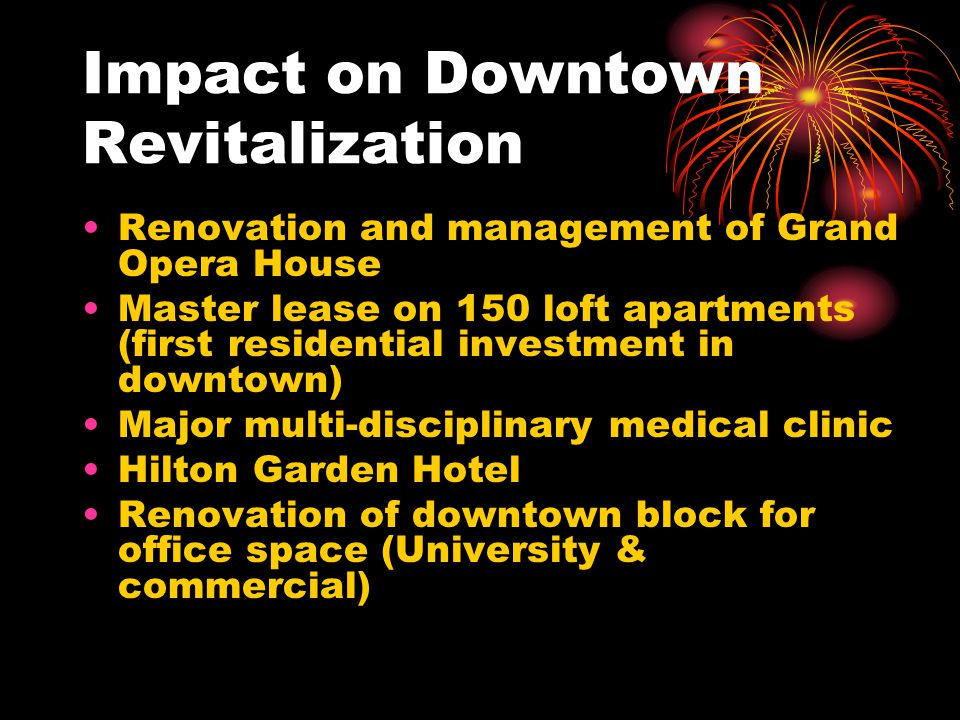 Impact on Downtown Revitalization